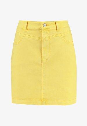 ULTRA HIGH RISE SKIRT - Denim skirt - yellow