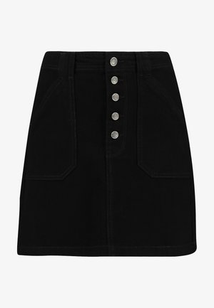 BLACK SKIRT - Falda vaquera - black