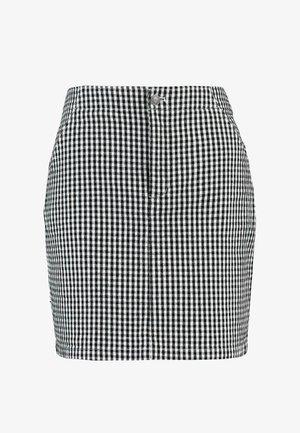 OXFORD SKIRT - Minifalda - black/white