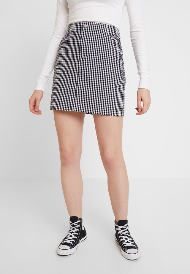 OXFORD SKIRT - Minifalda - black/white