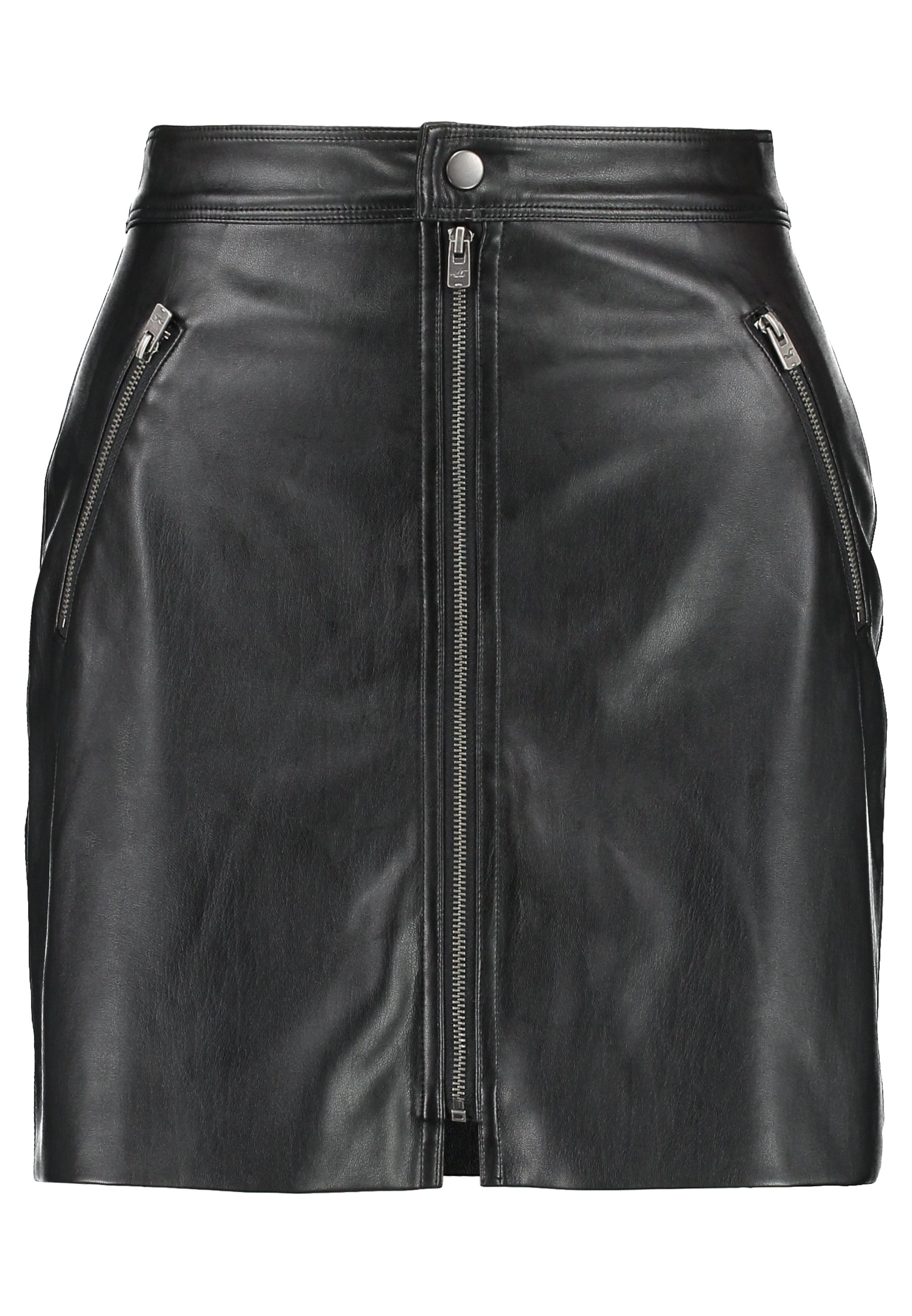 Hollister Co. ZIP FRONT - Spódnica mini - black