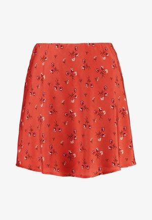 MINI SKIRT - Minifalda - cinnabar floral