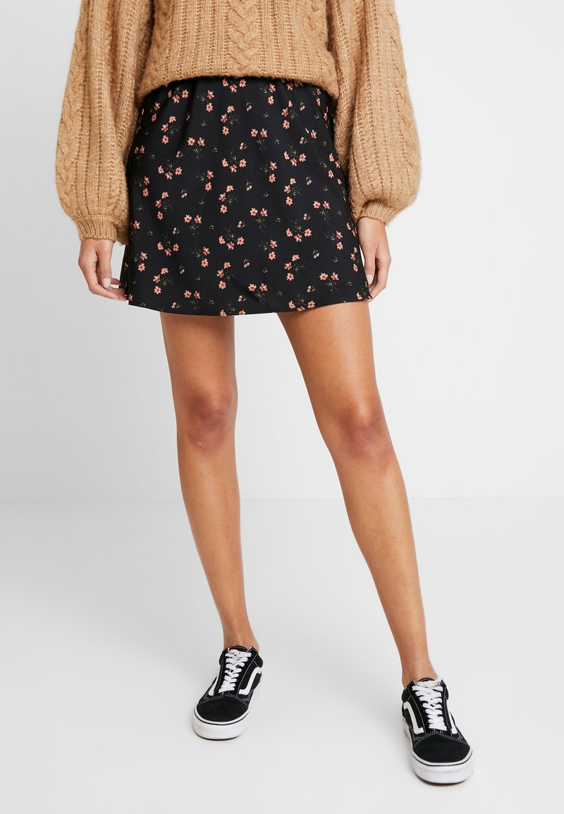 Hollister Co. - MINI SKIRT - Miniskjørt - black