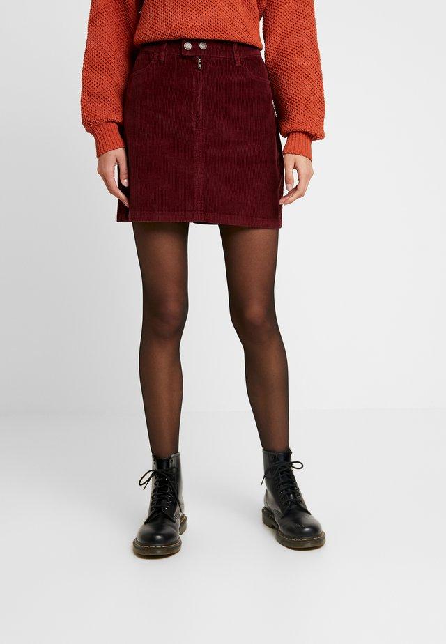 Minifalda - burgundy
