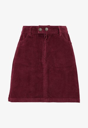 Mini skirt - burgundy