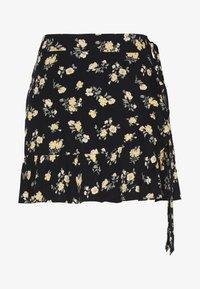 Hollister Co. - CHAIN RUFFLE WRAP MINI SKORT - A-line skjørt - black floral - 3