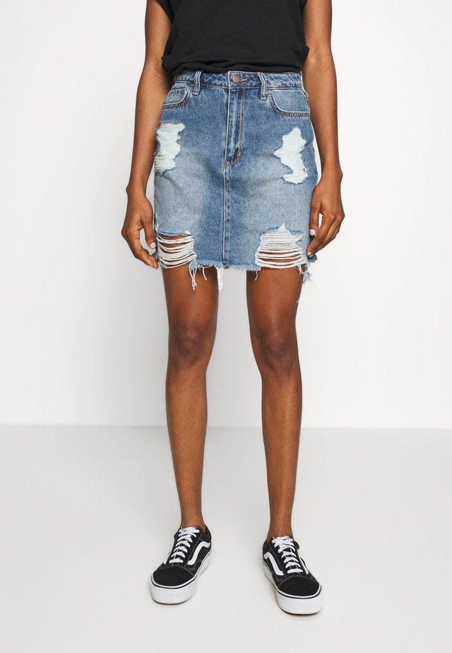 VINTAGE DESTROY - Denim skirt - denim