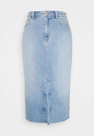 MEDIUM MIDI - Jupe en jean - light-blue denim