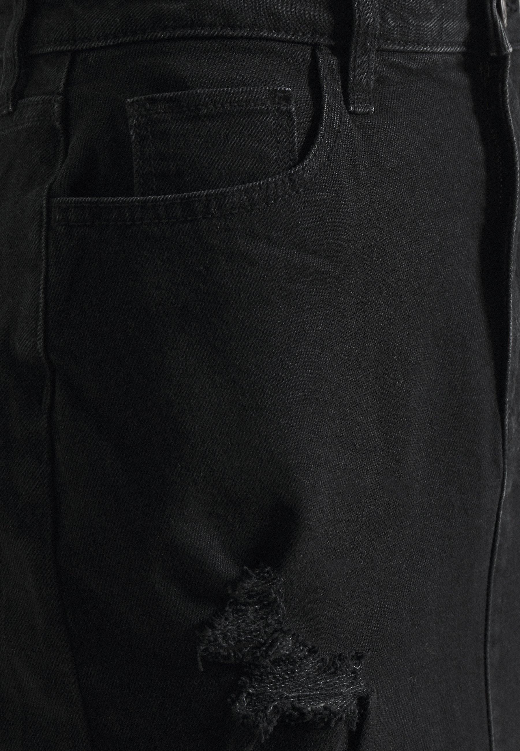 Hollister Co. Curvy Destroy - Minigonna Black ADOwZ