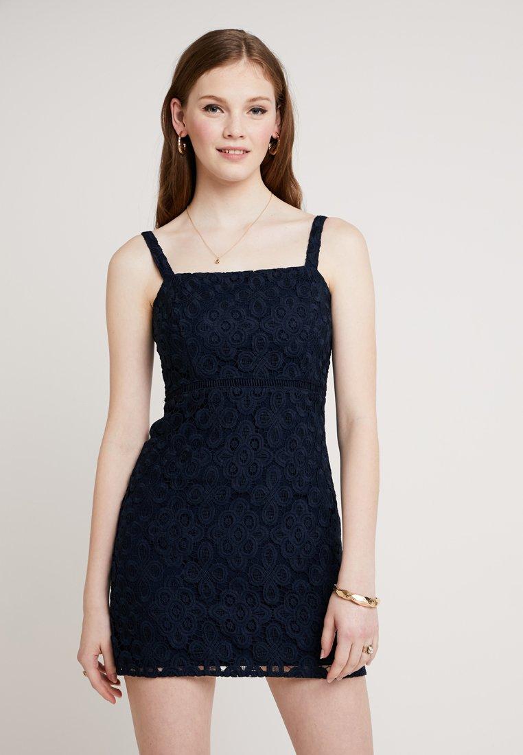 Hollister Co. - STRAPPY BARE DRESS - Cocktail dress / Party dress - navy