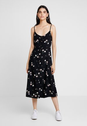 TWIST BACK MIDI DRESS - Sukienka letnia - black