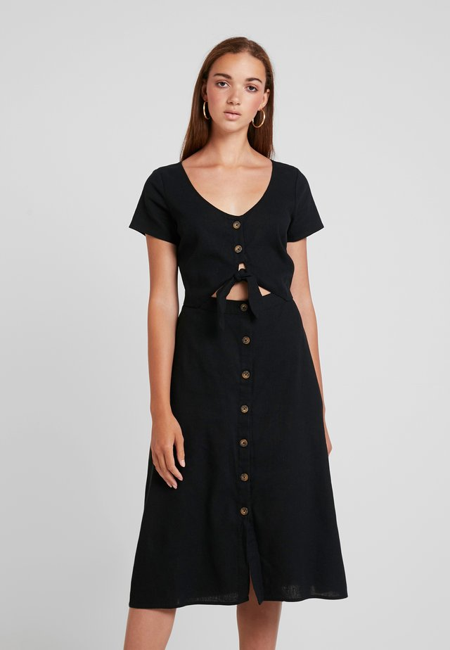 SHORT SLEEVE MIDI DRESS - Maxiklänning - black