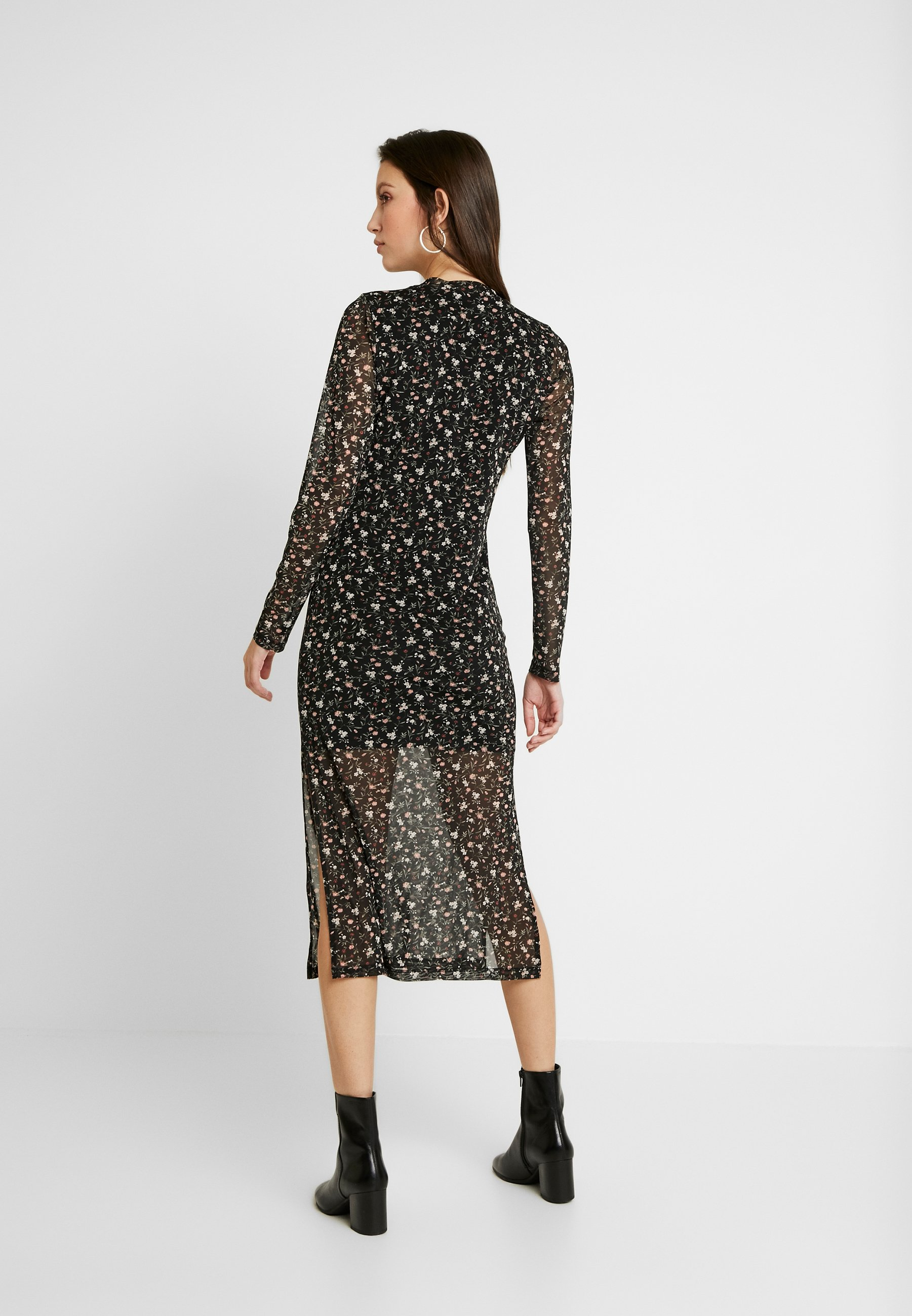 Hollister Co. Midi Dress - Jerseyklänning Black Floral