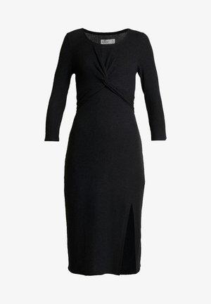 BRUSH - Vestido de punto - black