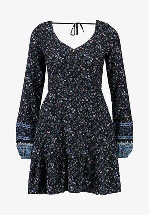 SHORT DRESS - Day dress - black ditsy