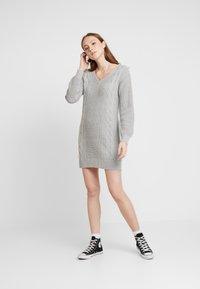 Hollister Co. - BACK DRESS - Jumper dress - grey - 1