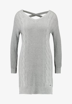 BACK DRESS - Strikket kjole - grey