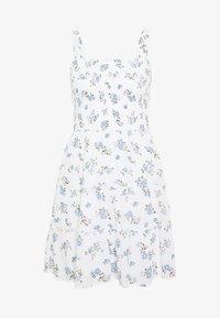 Hollister Co. - SMOCKED TIER BARE DRESS - Korte jurk - white ditsy - 3
