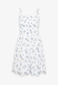 Hollister Co. - SMOCKED TIER BARE DRESS - Kjole - white ditsy - 3