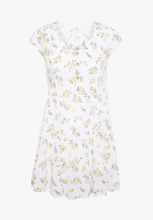 TIERED SHORT DRESS - Skjortekjole - white