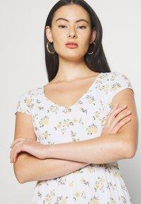Hollister Co. - TIERED SHORT DRESS - Skjortekjole - white - 3