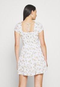 Hollister Co. - TIERED SHORT DRESS - Skjortekjole - white - 2