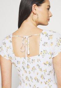 Hollister Co. - TIERED SHORT DRESS - Skjortekjole - white - 5