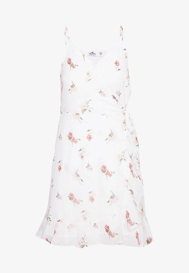 BARE SHORT DRESS - Vestido informal - white floral