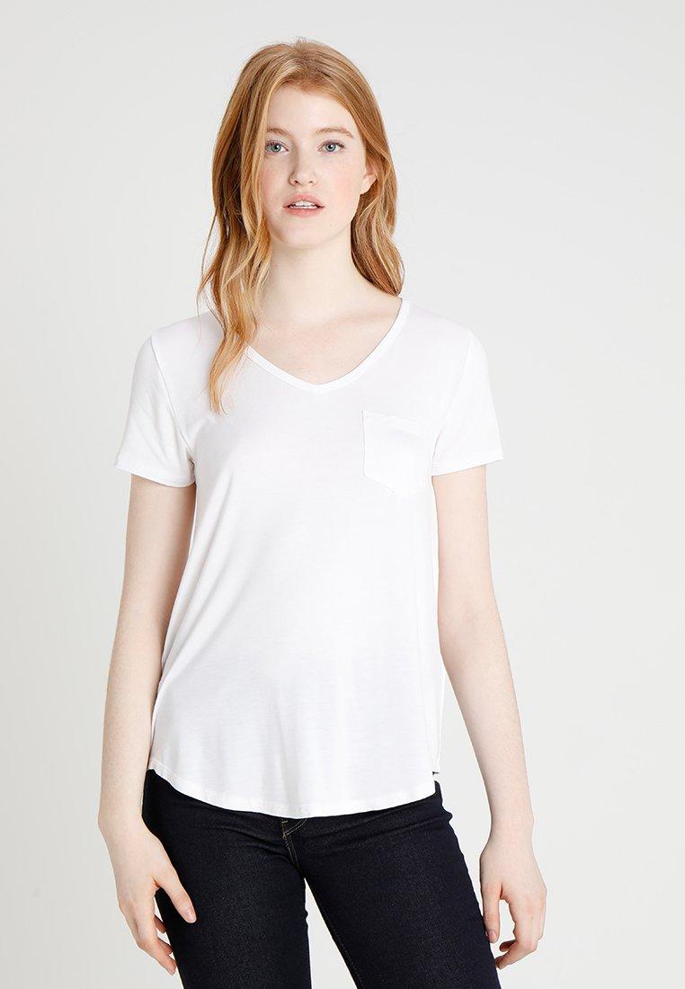 Hollister Co. - EASY VEE TEE - Basic T-shirt - white