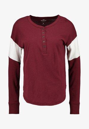 Bluzka z długim rękawem - burgundy