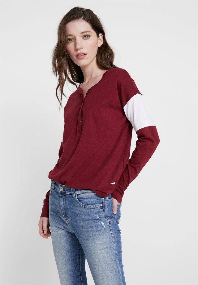 Långärmad tröja - burgundy