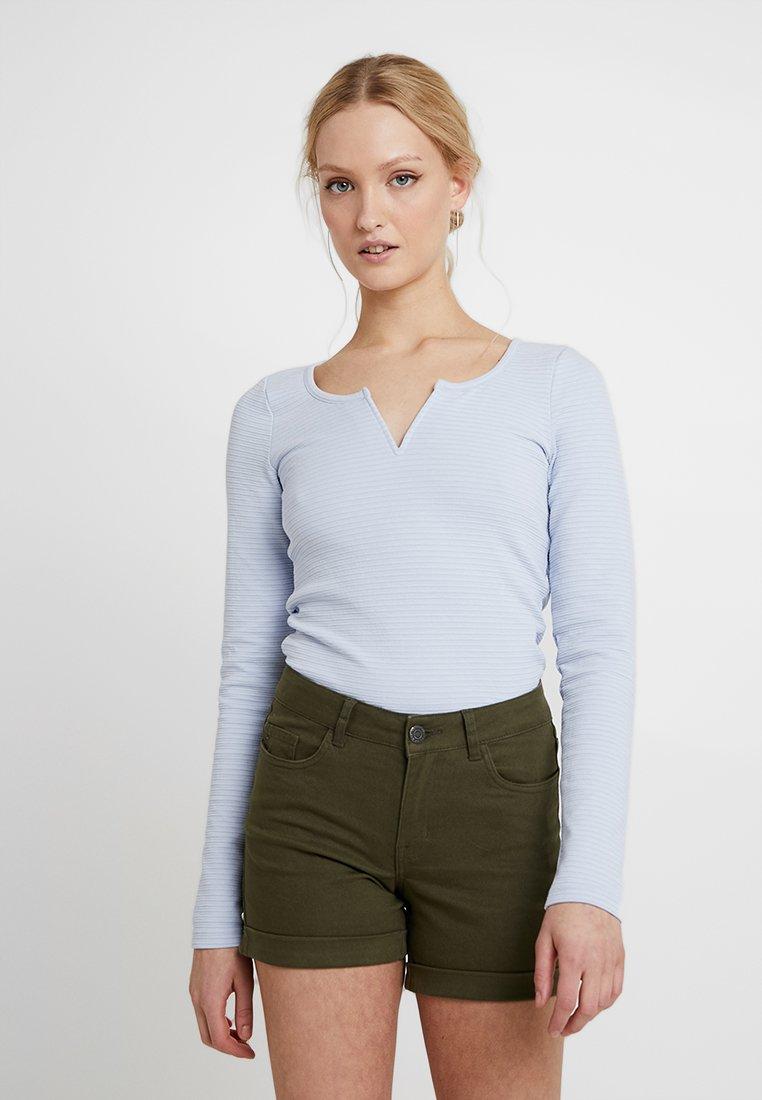 Hollister Co. - WIRE V NECK - Bluzka z długim rękawem - blue