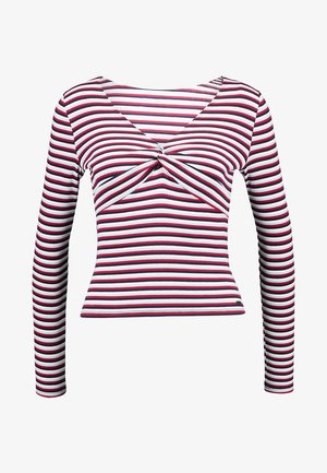 SLIM KNOT FRONT - Long sleeved top - red