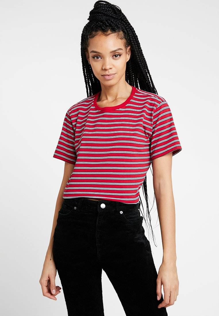 Hollister Co. - PERFECT TEE - Print T-shirt - red