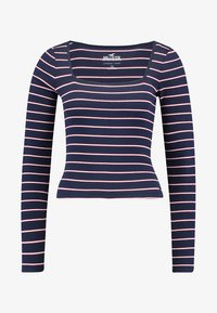 Hollister Co. - LONG SLEEVE SLIM SQUARE NECK - Long sleeved top - navy - 4