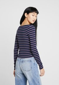 Hollister Co. - LONG SLEEVE SLIM SQUARE NECK - Long sleeved top - navy - 2