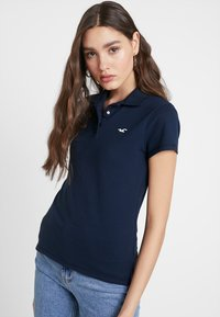 Hollister Co. - SHORT SLEEVE CORE - Polo - navy - 0