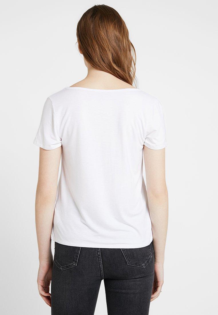TeeT shirt CoShort Easy White Sleeve Basique Hollister T1FJKcl