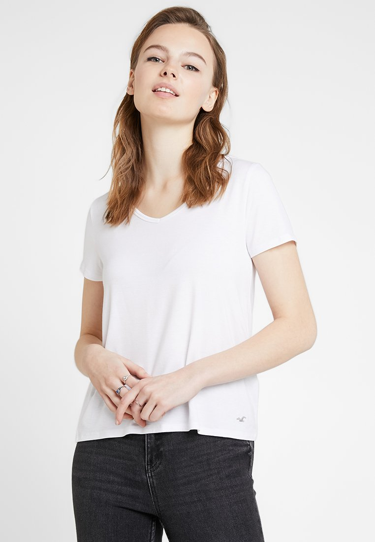 Hollister Co. - SHORT SLEEVE EASY TEE - Jednoduché triko - white