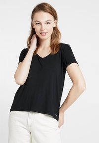 Hollister Co. - SHORT SLEEVE EASY TEE - T-shirt basic - black - 0