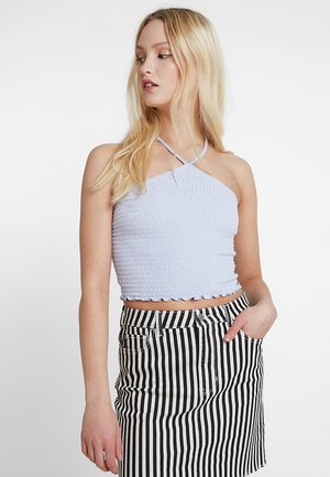 SLIM SMOCK CROP TUBE - Top - light blue