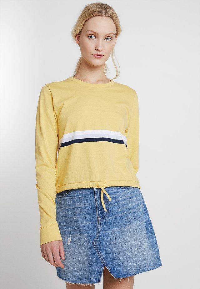 BOYFRIEND LONG SLEEVE TEE - Långärmad tröja - yellow