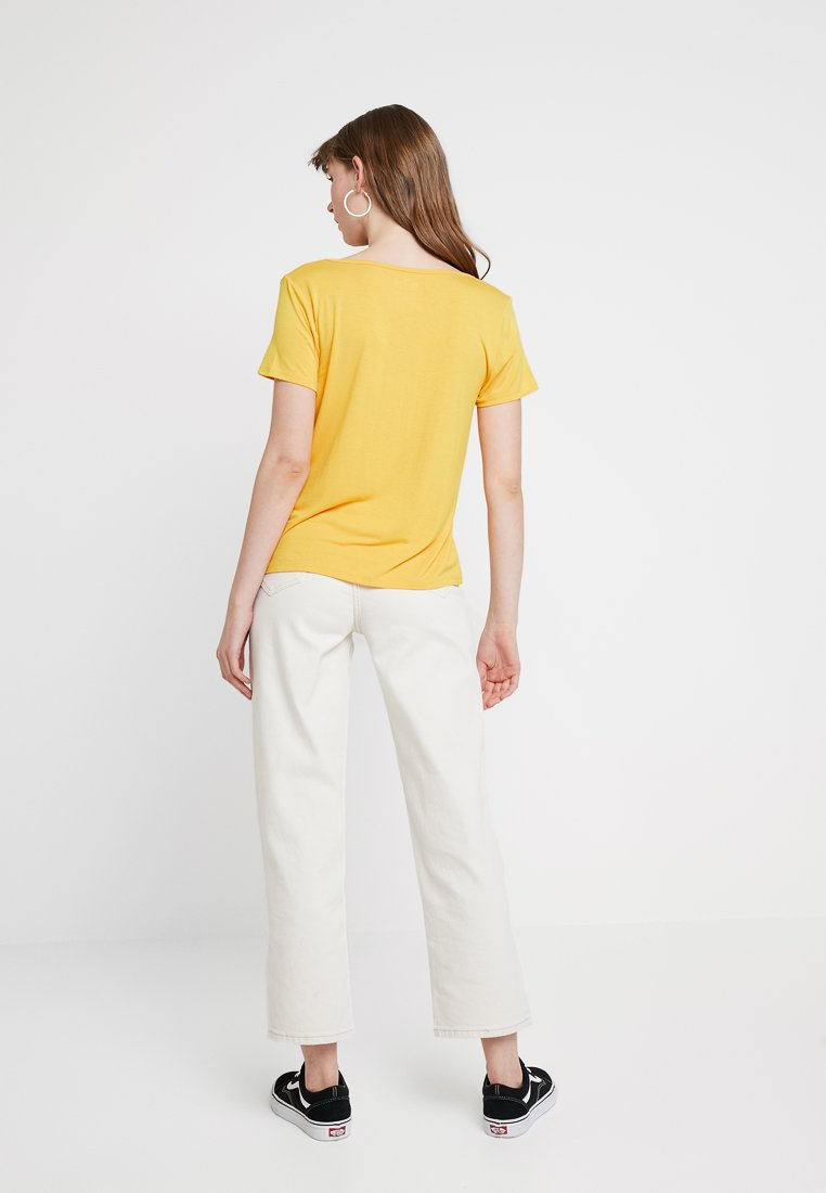 Vee Easy Basique CoShort Hollister shirt Yellow Sleeve TeeT Rj4AL35