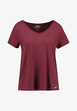 SHORT SLEEVE EASY VEE TEE - T-Shirt basic - burgundy