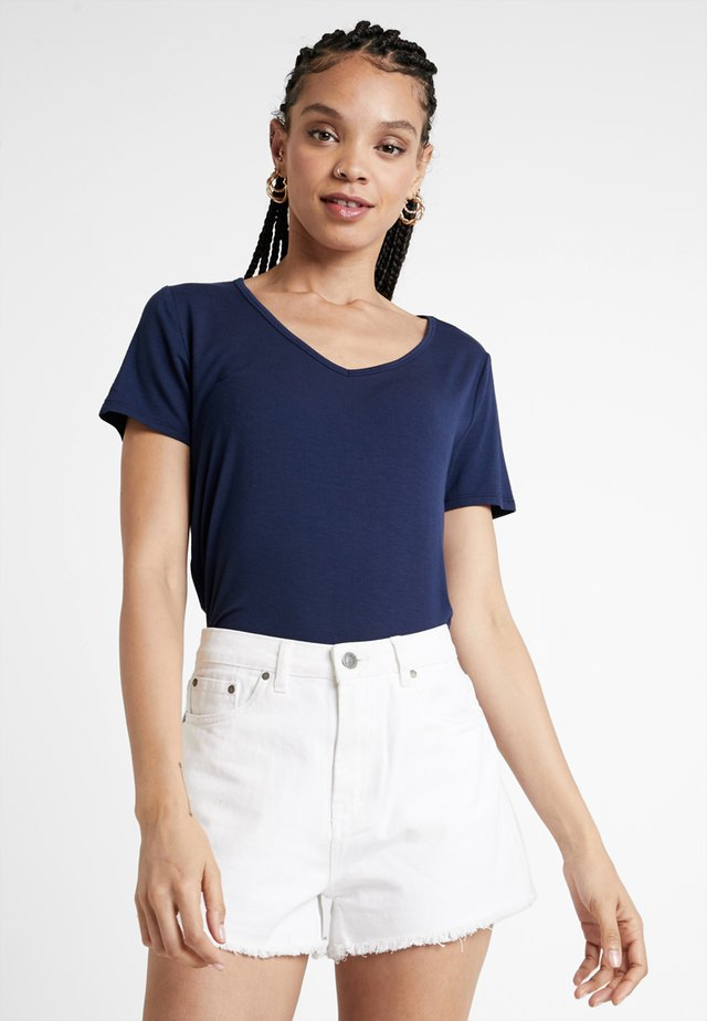 SHORT SLEEVE EASY VEE TEE - Camiseta básica - navy