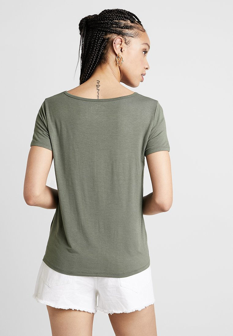 Basique shirt TeeT Easy Vee CoShort Olive Hollister Sleeve nP8wk0O