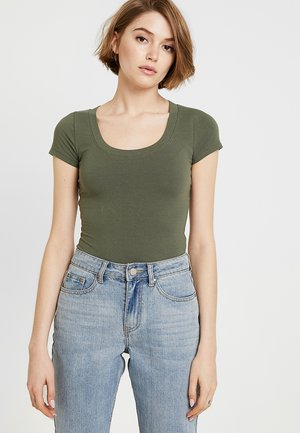 SHORT SLEEVE SCOOP BODYSUIT - T-shirt basique - olive