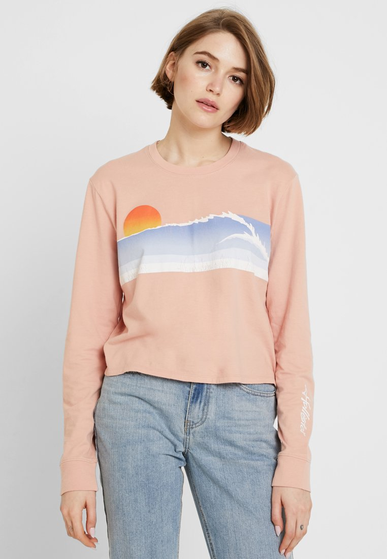 Hollister Co. - LONG SLEEVE IMAGERY  - Camiseta de manga larga - pink