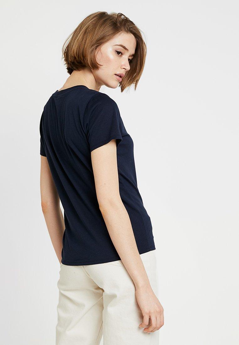 Hollister shirt PRINTED imprimé LOGO TEET navy CoCORE OiZTuwPkX