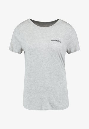 EASY FIT PRINTED LOGO TEE - Jednoduché triko - grey